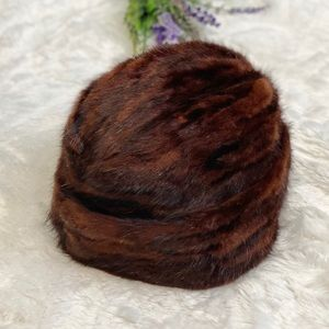 VINTAGE Genuine Mink Fur Hat